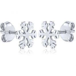 Silvego Stříbrné náušnice Sněhové vločky ZTJE52502 stříbro 925/1000