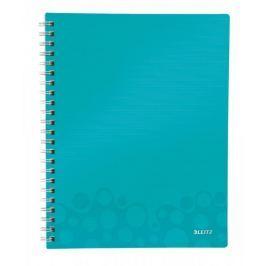 Blok organizační Leitz WOW A4  čtverečkovaný ledově modrý