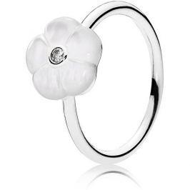 Pandora Romantický prsten s bělostným květem 190999MOP (Obvod 56 mm) stříbro 925/1000