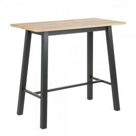 Design Scandinavia Barový stůl Rachel, 117 cm, černá/dub