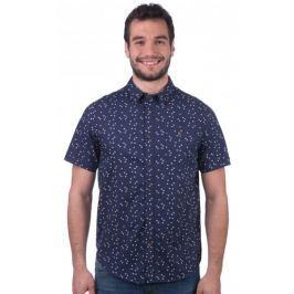 Brave Soul pánská košile Angle S tmavě modrá