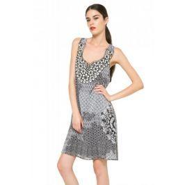 Desigual dámské šaty bez rukávů 36 šedá