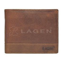 Lagen Pánská hnědá kožená peněženka Brown V-76/V