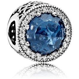Pandora Luxusní korálek s tmavě modrým krystalem 791725NMB stříbro 925/1000