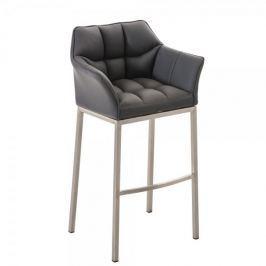BHM Germany Barová židle na čtyřnohé podnoži Sofi, šedá