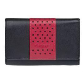 Lagen Dámská kožená peněženka Black/Red V16