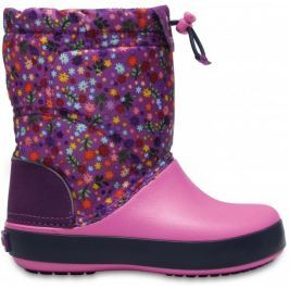 Crocs Crocband Lodge Point Graphic Kids Amethyst/Party Pink 24,5