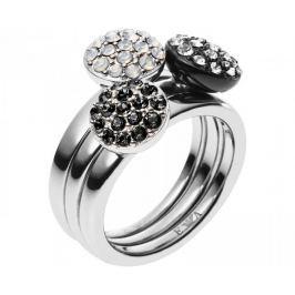 Emporio Armani Sada tří prstenů EGS1969040 (Obvod 58 mm)