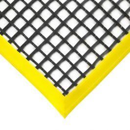 Černá olejivzdorná protiskluzová průmyslová univerzální rohož - 120 x 60 x 1,2 cm