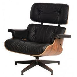 Mørtens Furniture Designové otočné křeslo Easy, černá/palisandr