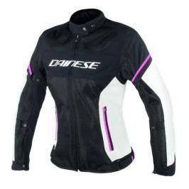 Dainese bunda dámská AIR-FRAME D1 LADY TEX vel.40 černá/šedá/růžová, textilní