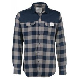 AQUA PRODUCTS Aqua Flanelová Košile Long Sleeve Blue Check Flannel Shirt S