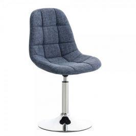 BHM Germany Jídelní otočná židle Miley textil, modrá