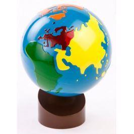 Montessori pomůcky Glóbus – barevné kontinenty