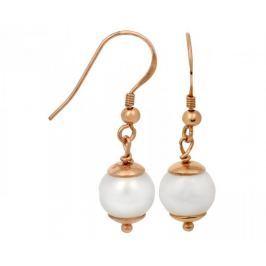 JwL Luxury Pearls Stříbrné perlové náušnice zlacené růžovým zlatem JL0235 stříbro 925/1000