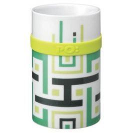 PO Ring Mug porcelánový hrnek Green geometric 250 ml