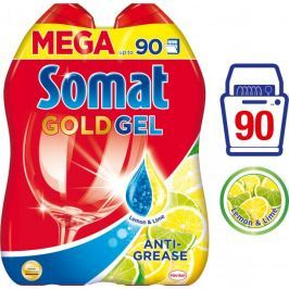 Somat Gold gel Anti-Grease Lemon 2 x 900 ml (90 mytí)