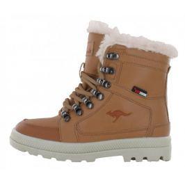 KangaROOS chlapecké zimní boty Plashy 28 hnědá