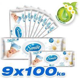 SMILE Baby Vlhčené ubrousky 9x100 ks