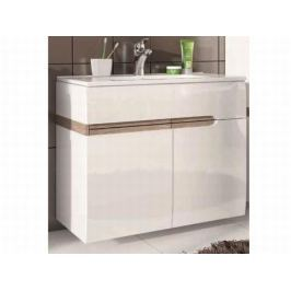 LINATE, umyvadlová skříňka 2D, alpská bílá/trufla