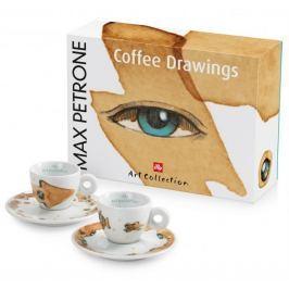 illy Sada šálků na espresso Max Petrone COFFEE DRAWINGS, 2 kusy
