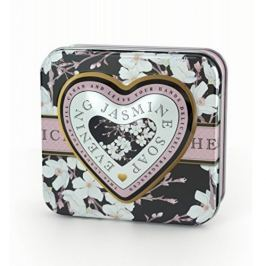 Somerset Toiletry Luxusní tuhé mýdlo ve tvaru srdce Večerní jasmín (Evening Jasmine Soap) 150 g