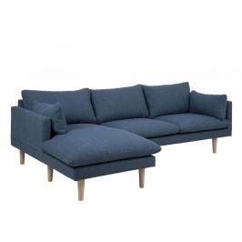Design Scandinavia Pohovka rohová levá Surry, 242 cm, modrá