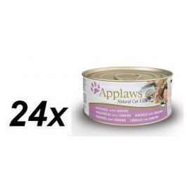 Applaws Konzerva Cat - makrela a sardinky 24 x 70g
