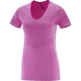 Salomon Elevate Seamless Ss Tee W Rose Violet XS