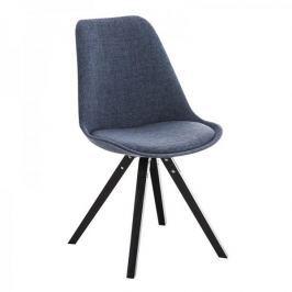BHM Germany Jídelní židle Damian II., černá podnož (SET 2 ks), modrá