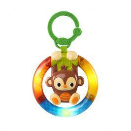 BRIGHT STARTS - Hračka hudební, svítící na C kroužku Shake & Glow opička 3m +