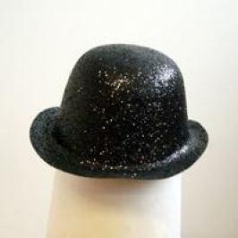 CASALLIA - Karnevalový klobouk třpytivý černý