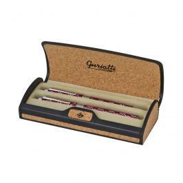 EASY - Guriatti ROSA Set plnicí a kuličkové pero rytý vzor červené