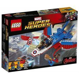 LEGO - Super Heroes 76076 Captain America a honička v stíhačce