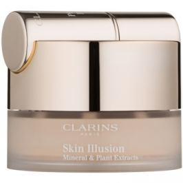 Clarins Face Make-Up Skin Illusion pudrový make-up se štětečkem odstín 105 Nude 13 g