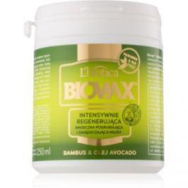 L'biotica Biovax Bamboo & Avocado Oil regenerační maska na vlasy  250 ml