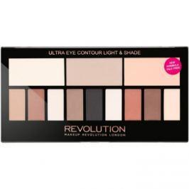 Makeup Revolution Ultra Eye Contour konturovací paletka na oči odstín Light & Shade 14 g