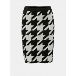 Krémovo-černá vzorovaná pouzdrová sukně Noisy May