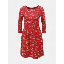 Červené květované šaty Brakeburn
