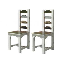 Sada 2 dřevěných jídelních židlí Støraa Bond