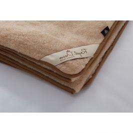 Hnědá deka z merino vlny Royal Dream,140x200cm
