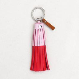 Růžovočervená klíčenka Caroline Gardner Tassel Keyring