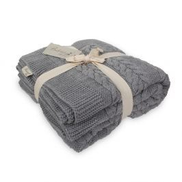 Tmavě šedá deka Touta, 170x130cm