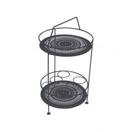 Antracitově šedý zahradní barový stolek Fermob Montmartre, Ø 40 cm