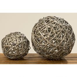 Sada 2 dekorací z vrbového dřeva Boltze Balls