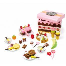Dřevěný box plný sladkostí na hraní Legler Sweeties