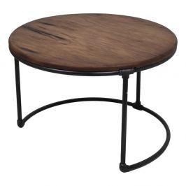 Odkládací stolek ze teakového dřeva a kovu HSM collection Round, 70 x 70 cm