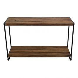 Konzolový stolek z teakového dřeva a kovu HSM collection Lilienne