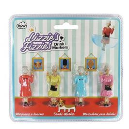 Sada 4 rozlišovačů na sklenice npw™ Lizzies Fizzles