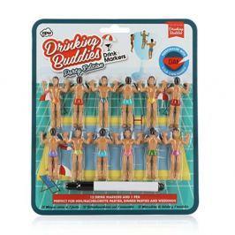 Sada 12 rozlišovačů na sklenice npw™ Drinking Buddies Bumper Pack